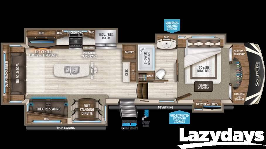2018 grand design solitude 384gk for sale in tampa fl - Grand design solitude floor plans ...