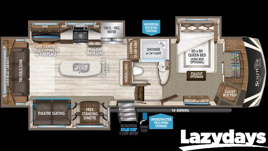 2017 grand design solitude 310gk for sale in tucson az - Grand design solitude floor plans ...