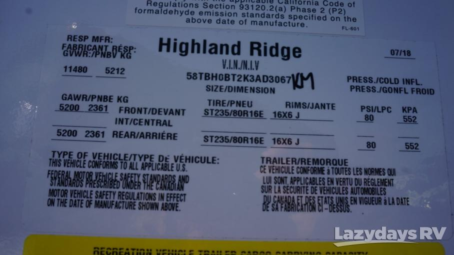 2019 Highland Ridge RV Open Range 324RES