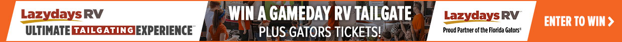 Gators Ultimate Tailgating Sweepstakes Banner