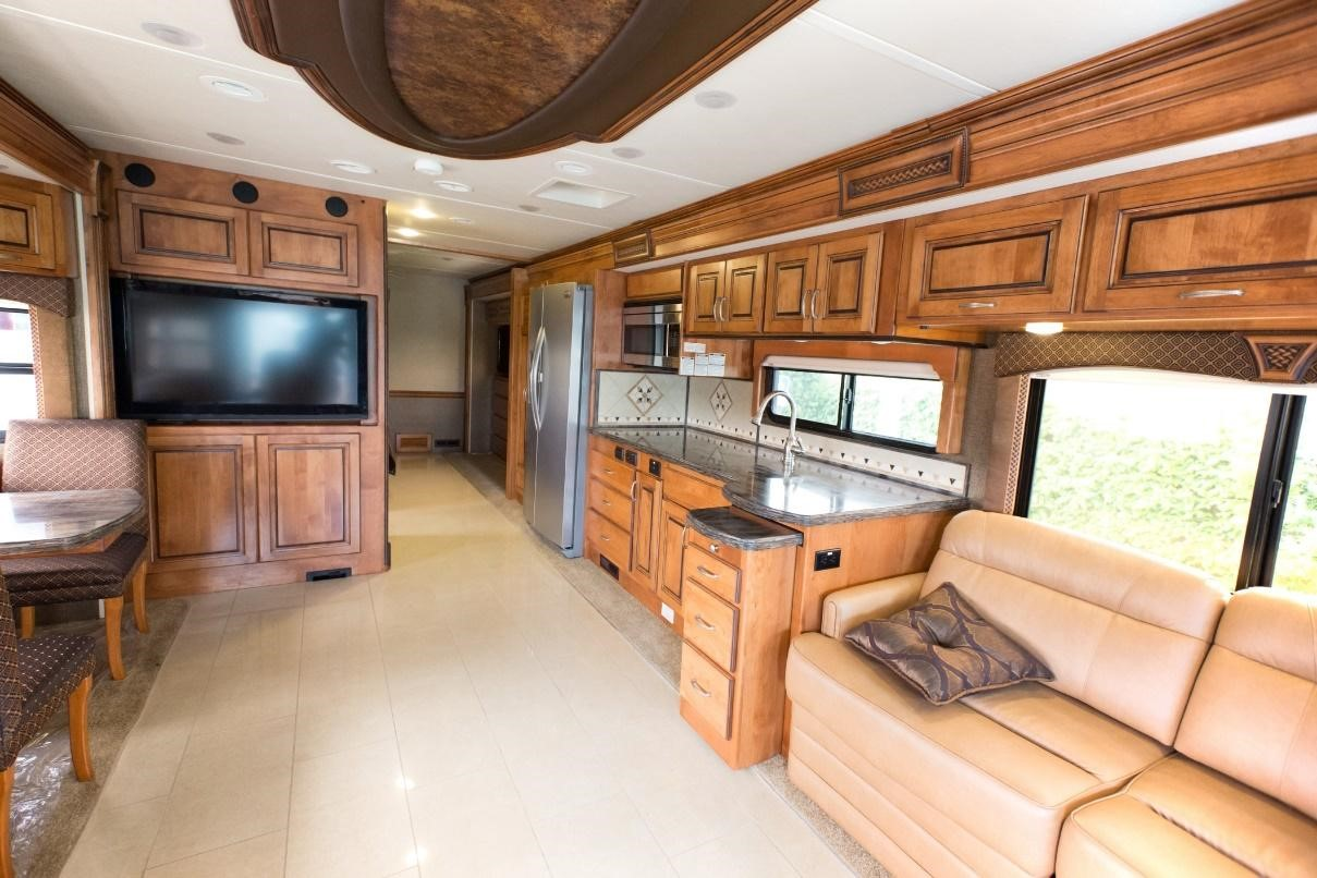 Interior shot of a Class A RV