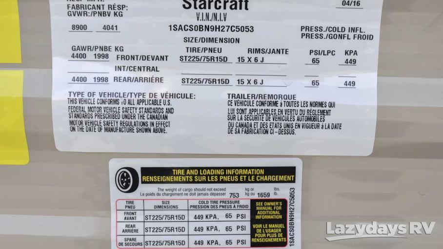 2017 Starcraft AR-1 MAXX 25RLS