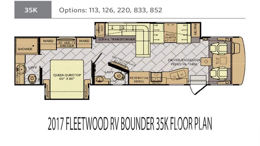 2017 Fleetwood Rv Bounder 35k For Sale In Ta Fl Lazydaysrhlazydays: Fleetwood Bounder Motorhome Floor Plans At Gmaili.net