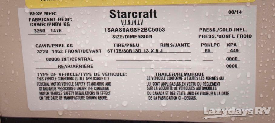 2015 Starcraft Comet H1235