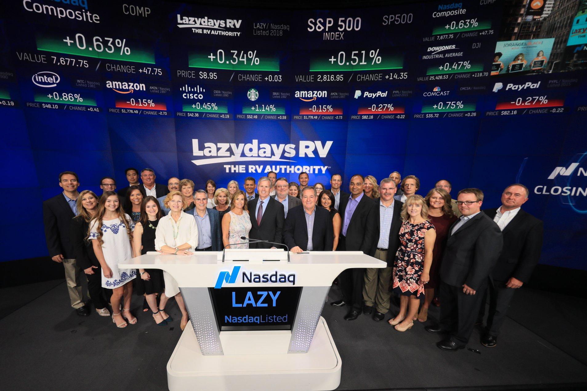 Lazydays RV at Nasdaq Bell Ceremony