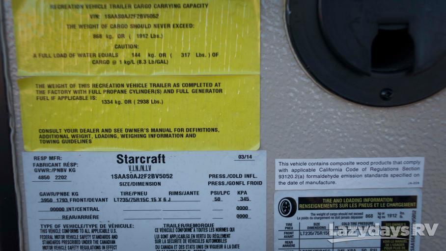 2015 Starcraft Comet 12RT