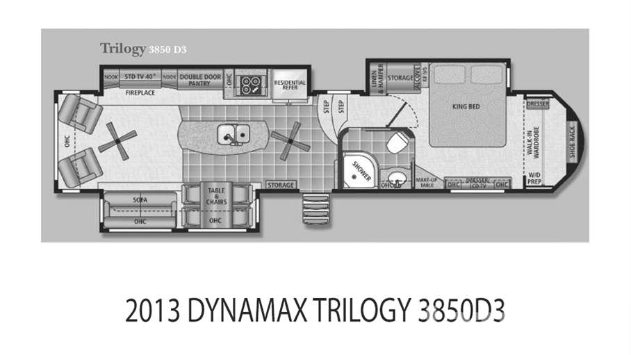 Dynamax Rv Floor Plans: 2013 Dynamax Trilogy 3850D3 For Sale In Tampa, FL