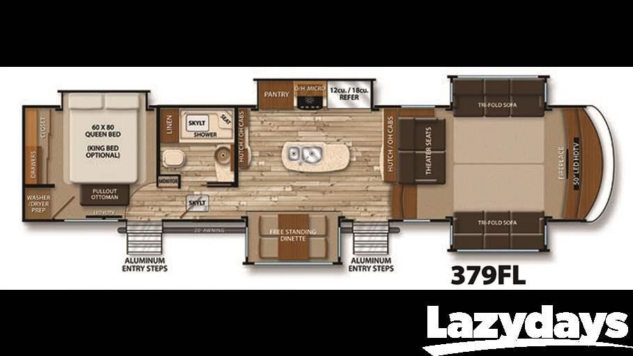 2016 grand design solitude 379fl for sale in tampa fl - Grand design solitude floor plans ...