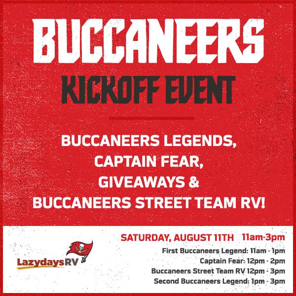 Tampa Bay Buccaneers Kickoff Event | Lazydays RV