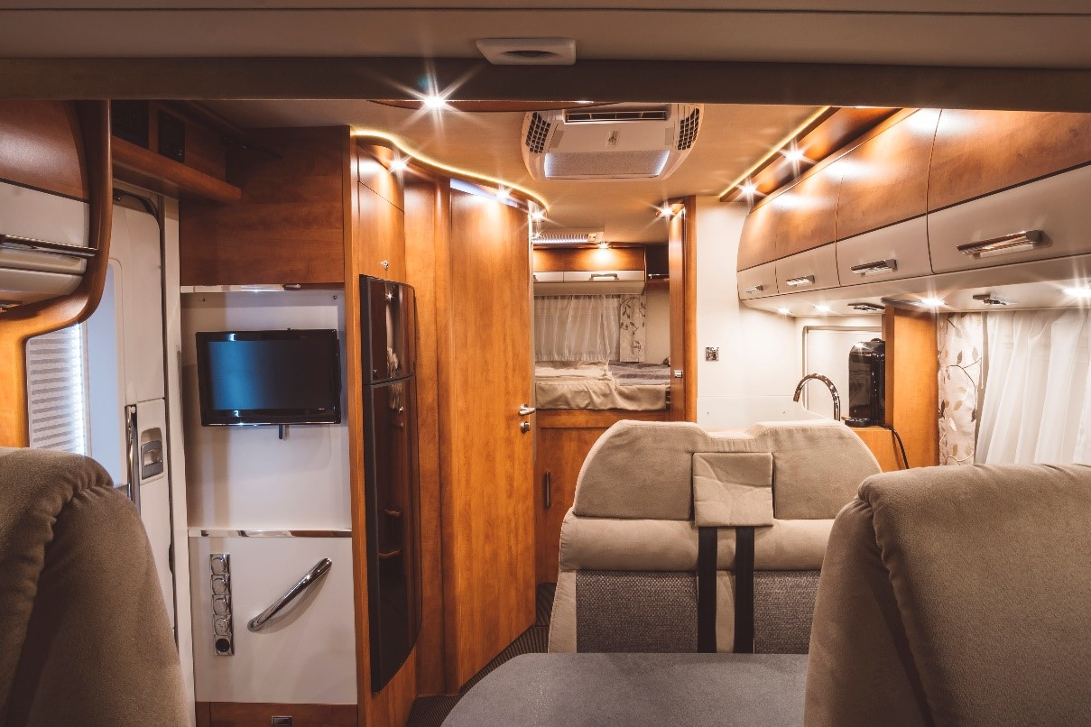 Interior shot of an RV