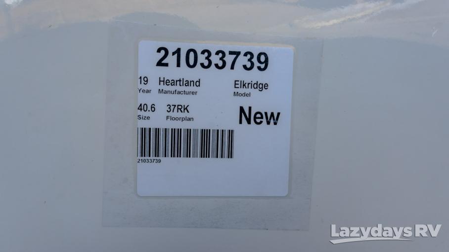 2019 Heartland Elkridge 37RK