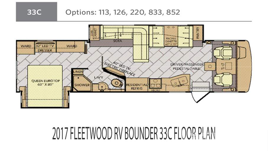 Fleetwood Bounder | Cl A Motorhomes for Sale | Lazydays on ford motorhome floor plans, toyota motorhome floor plans, excursion motorhome floor plans, tioga motorhome floor plans, georgie boy motorhome floor plans, georgetown motorhome floor plans, alfa motorhome floor plans,