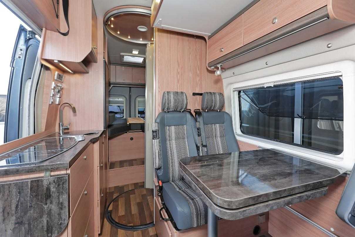 Interior shot of a small RV